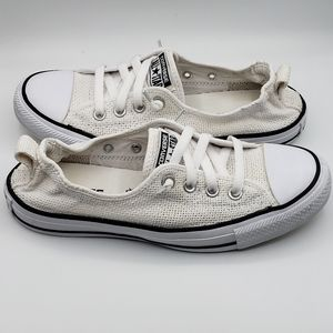 Converse All Star, size 8.5, white canvas